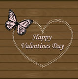 Beautiful festive greeting card happy Valentine`s day. Pattern for decoration or design. Cute vector illustration Royalty Free Stock Photo