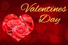 Beautiful festive illustration with heart, concept - love, Valentine`s Day. The inscription on the card royalty free stock images