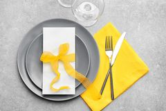 Beautiful festive table setting. Beautiful festive on table setting Royalty Free Stock Photos