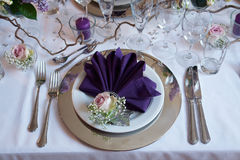 Beautiful festive table setting Royalty Free Stock Photography