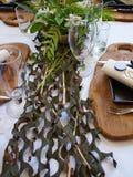 Beautiful festive table setting Stock Photo
