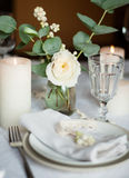 Beautiful festive table setting Stock Photography