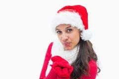 Beautiful festive woman smiling at camera Royalty Free Stock Photo