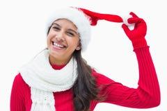 Beautiful festive woman smiling at camera Royalty Free Stock Image