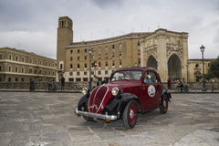 Beautiful fiat topolino on the road lecce Royalty Free Stock Image