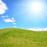 Beautiful field. Gentle hill in a beautiful field Stock Photos