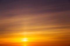 Beautiful fiery orange sunset sky Stock Photos