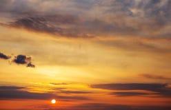 Beautiful fiery orange sunset sky Royalty Free Stock Photography