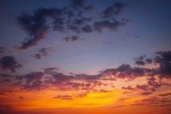 Beautiful fiery orange sunset sky Royalty Free Stock Photo