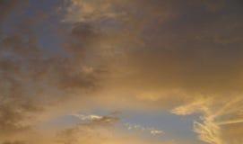 Beautiful fiery orange sunset sky Royalty Free Stock Image