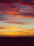Beautiful fiery orange sunset sky Stock Photography