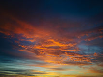Beautiful fiery orange sunset sky Royalty Free Stock Images