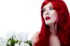 A beautiful fiery red haired woman Royalty Free Stock Photography