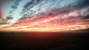 Beautiful Fiery Sunset Stock Photography