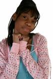 Beautiful Fifteen Year Old Tee. Beautiful African Amercian 15 year old Teen Girl smiling Stock Photo