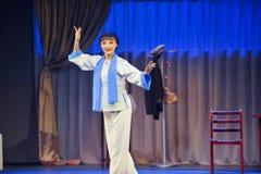 Beautiful figure-Jiangxi OperaBlue coat Royalty Free Stock Image