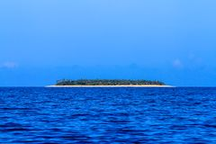 Beautiful Fiji atoll island with white beach Stock Photo
