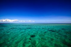 Beautiful Fiji atoll island with white beach Stock Photography