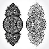 Beautiful filigree Indian floral ornament. Ethnic Mandala. Henna Royalty Free Stock Photos