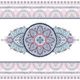 Beautiful filigree Indian floral ornament. Ethnic Mandala. Henna Royalty Free Stock Photography