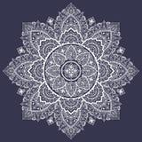 Beautiful filigree Indian floral ornament. Ethnic Mandala. Henna Royalty Free Stock Image