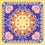 Beautiful filigree Indian floral ornament. Ethnic Mandala.   Royalty Free Stock Photography