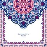 Beautiful filigree Indian floral ornament. Ethnic Mandala.   Royalty Free Stock Image