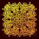 Beautiful filigree Indian floral ornament. Ethnic Mandala. Henna Royalty Free Stock Photo