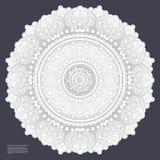 Beautiful filigree Indian floral ornament. Ethnic Mandala. Henna Stock Images