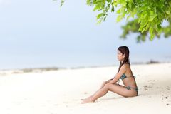 Beautiful Filipina woman on Royalty Free Stock Photos