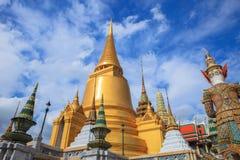 Beautiful fine art exterior decorated of grand palace bangkok th Royalty Free Stock Photography