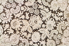 Beautiful fine white lace on a background Stock Photography