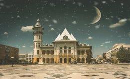 Beautiful fineart image, Buzau City Hall architecture