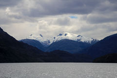 Beautiful fiord with mountains in the Bernardo O`Higgins National Park, Chile Stock Images