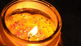 Fire candles close up stock video footage
