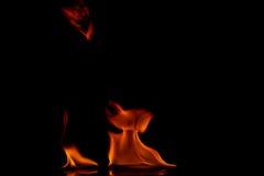 Beautiful fire flames Stock Photo