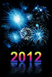 Beautiful firework, 2012 Royalty Free Stock Photo