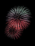 Beautiful firework stock photo