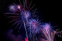 Beautiful firework display for celebration Happy new year 2016, Royalty Free Stock Images