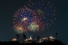 Free Beautiful Firework Display For Celebration Royalty Free Stock Images - 110720029