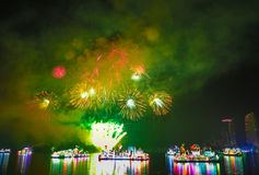 Beautiful firework displays at FLORIA night show Stock Photos