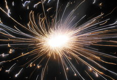 Beautiful firework during Diwali in India. Beautiful firework with sparkles during Diwali, the Festival of Light celebrated in India Stock Photography