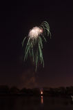 Beautiful firework in honor of the Moscow Victory Day Parade. Royalty Free Stock Photography