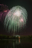 Beautiful firework in honor of the Moscow Victory Day Parade. Stock Image