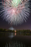 Beautiful firework in honor of the Moscow Victory Day Parade. Stock Photography