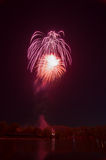 Beautiful firework in honor of the Moscow Victory Day Parade. Royalty Free Stock Photos