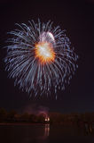 Beautiful firework in honor of the Moscow Victory Day Parade. Stock Images