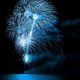 Beautiful firework over the water Royalty Free Stock Photos