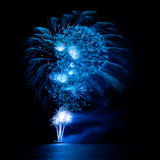 Beautiful firework over the water Royalty Free Stock Images