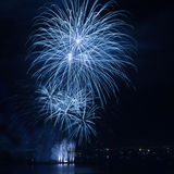 Beautiful firework over the water Royalty Free Stock Photography
